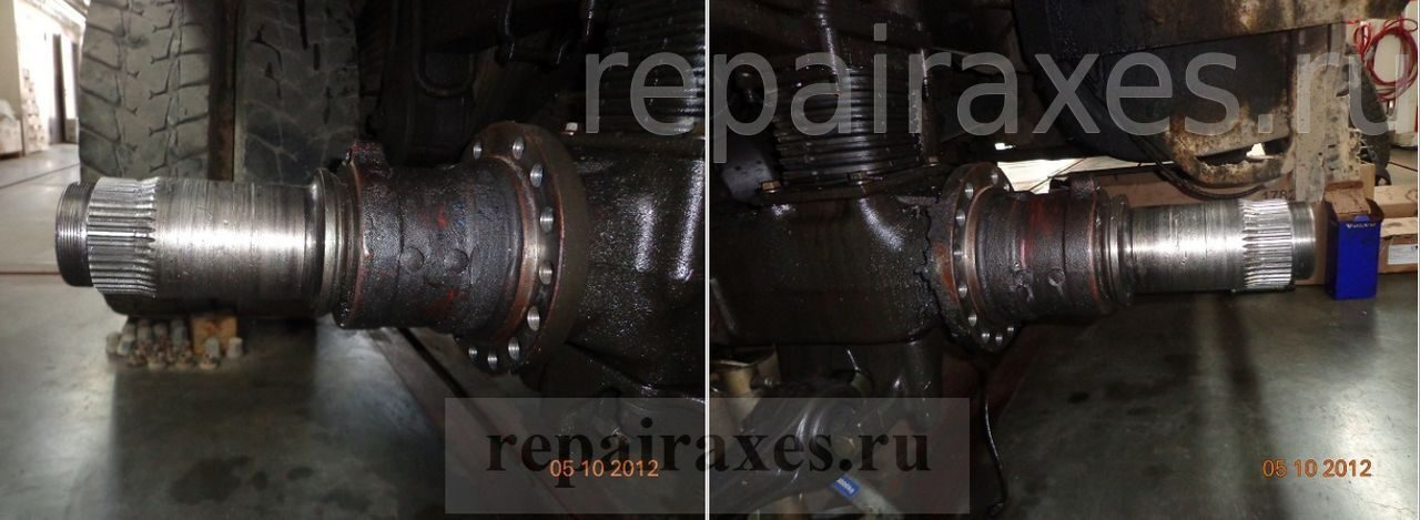 демонтаж ступицы на грузовике вольво фм 13